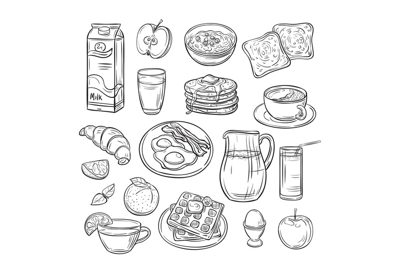 breakfast-doodle-sandwich-bread-toast-egg-butter-morning-coffee-and