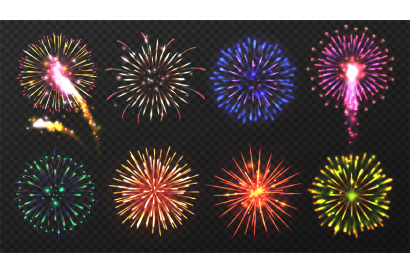 fireworks-various-multicolored-firework-explosions-with-shining-spark