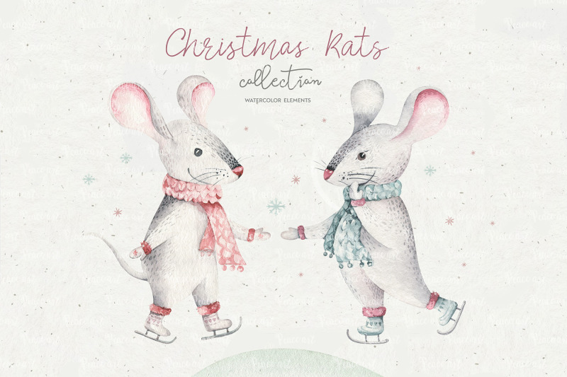 christmas-cute-rats-collection
