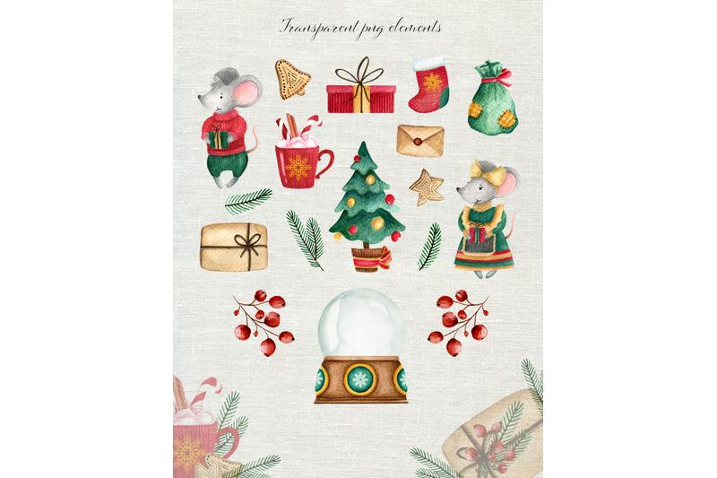 christmas-watercolor-set-cute-mice