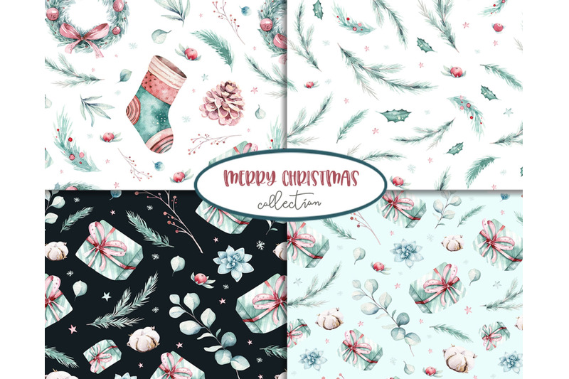 christmas-amp-new-year-patterns-collection