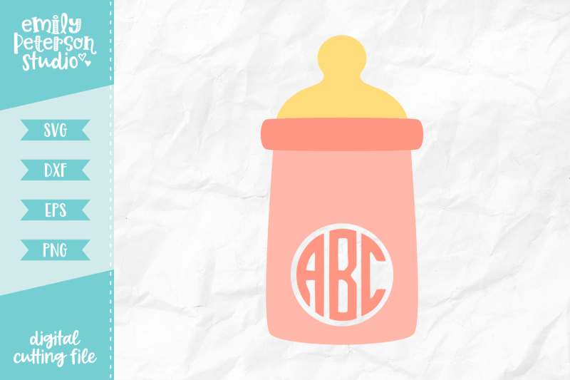 baby-bottle-monogram-svg-dxf