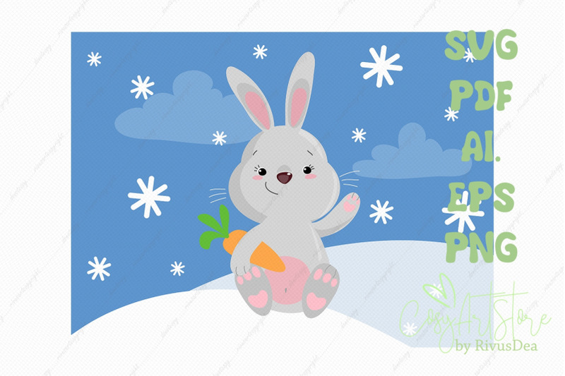 cute-bunny-svg-download-bunny-png-grey-rabbit-with-carrot-christmas
