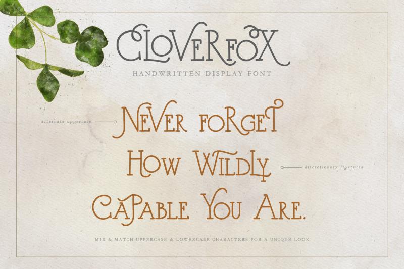 cloverfox-display-font