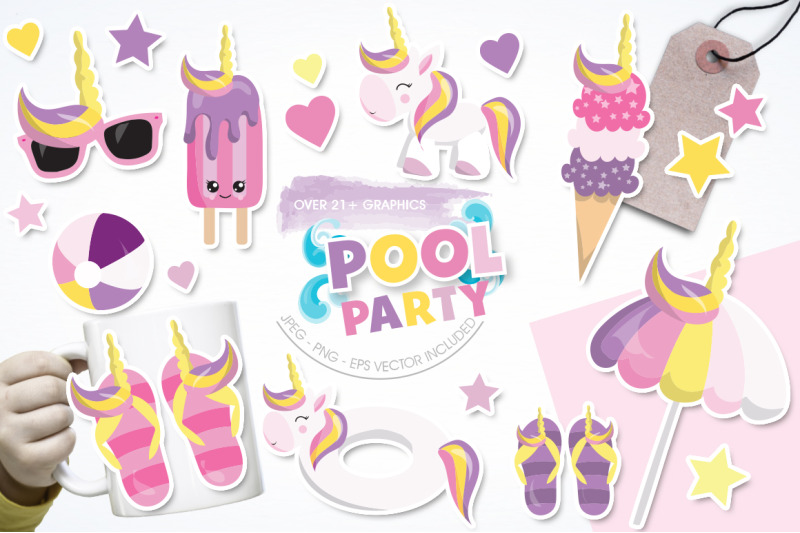 pool-party-graphic-and-illustration