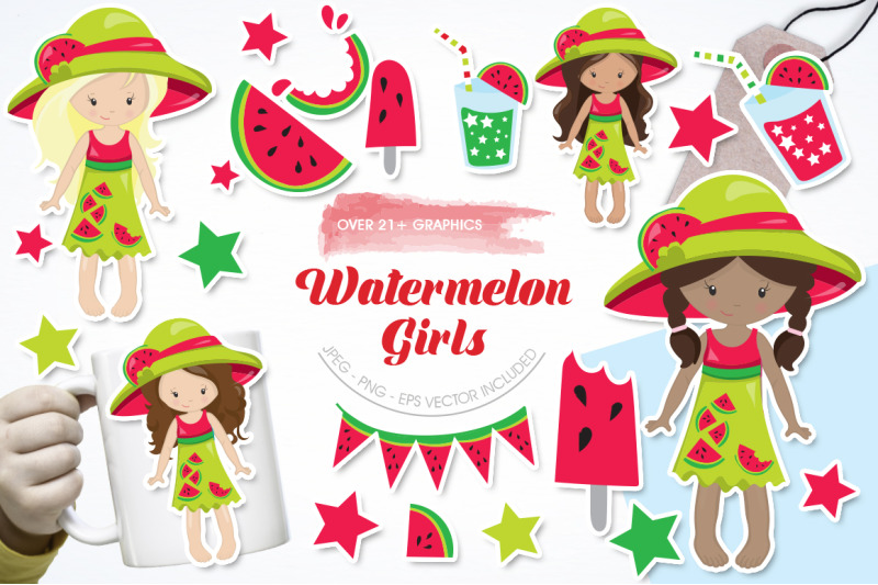 watermelon-girls-graphic-and-illustration