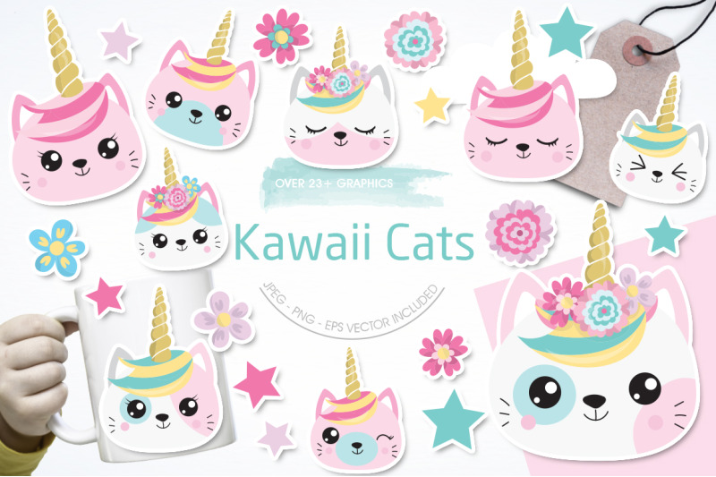 kawaii-cats-graphic-and-illustration