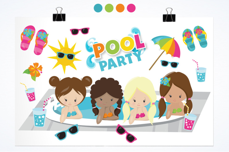 girls-pool-party-graphic-and-illustration
