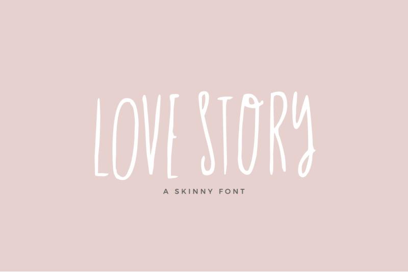 love-story-skinny-font