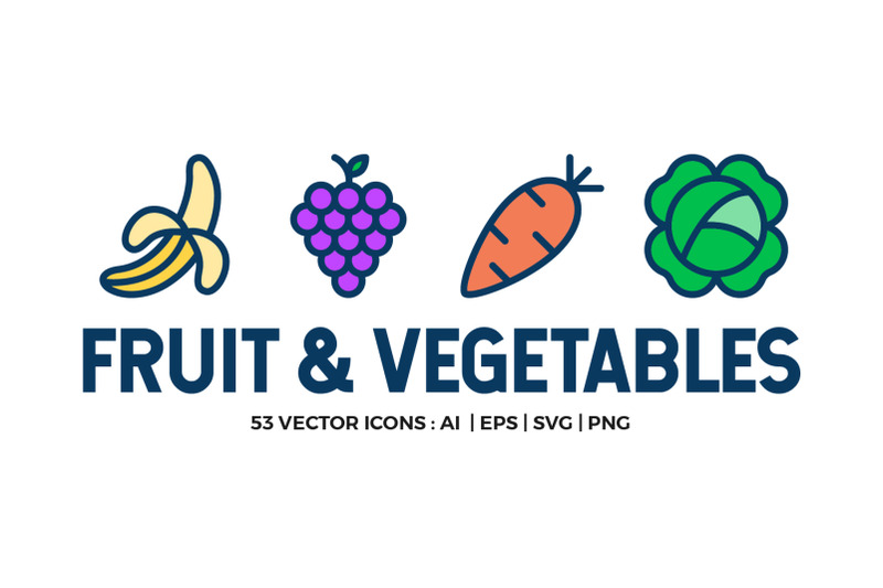 fruit-and-vegetables-icon-set