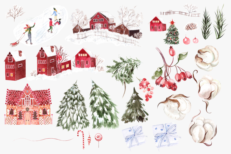 watercolor-merry-christmas