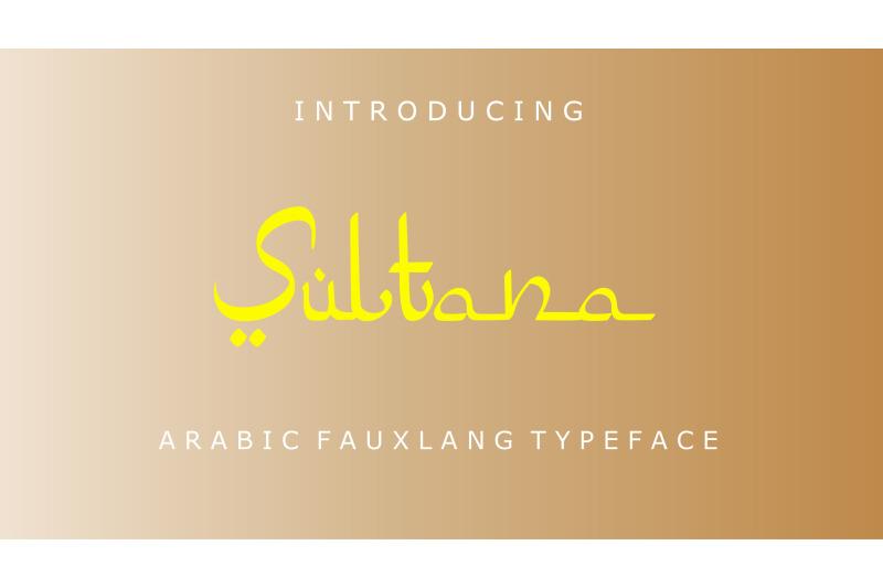 sultana-arabic-fauxlang-font