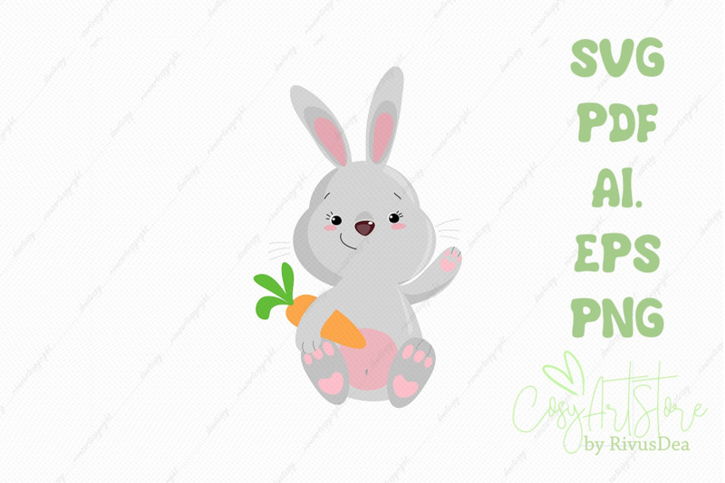 bunny-svg-download-rabbit-holding-carrot-png-hare-cute-baby-animal
