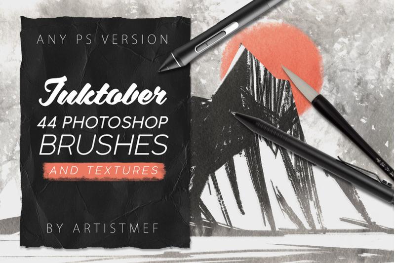 inktober-2019-photoshop-brushes