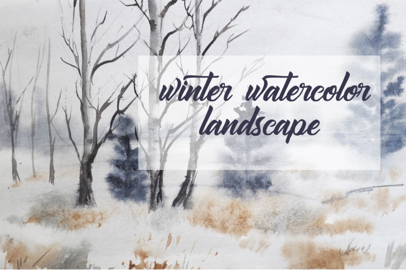 winter-watercolor-landscape