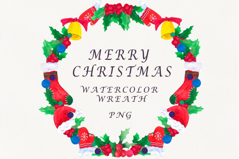 christmas-wreath-watercolor-christmas-clipart