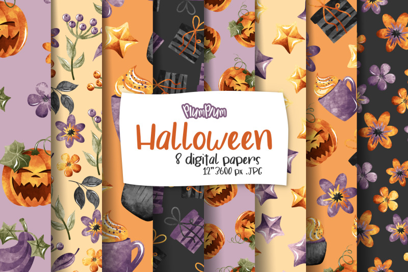 halloween-digital-papers