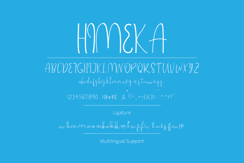 himeka-a-hnadwritten-font