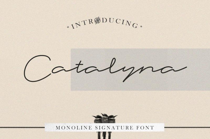 catalyna-monoline-signature