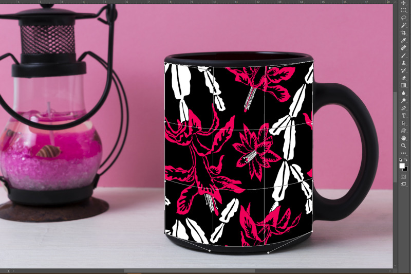 coffee-mug-mockup-with-black-metal-candle-lantern