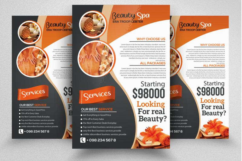 body-spa-service-flyer-template