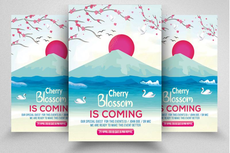 cherry-blossom-flyer-template