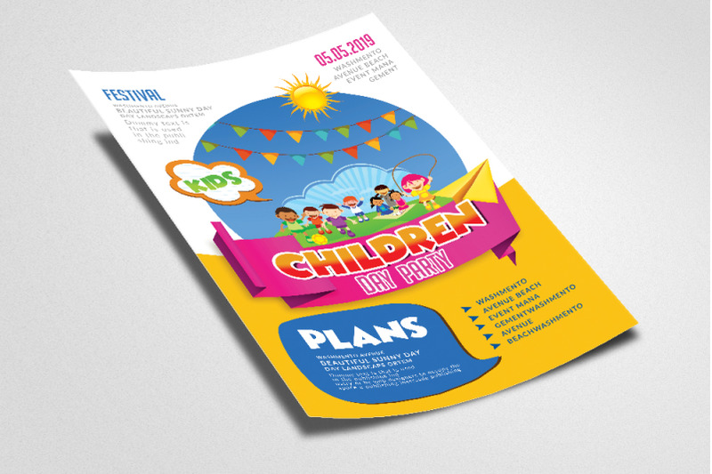 children-day-party-flyer-template