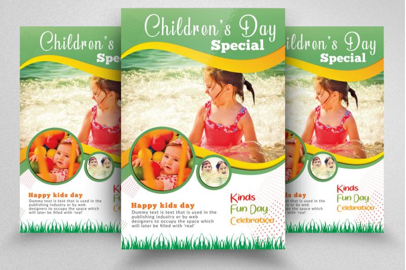 children-fun-day-flyer-template