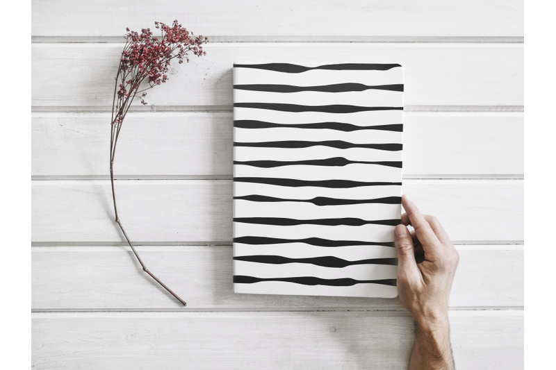 hand-drawn-black-and-white-striped-seamless-patterns