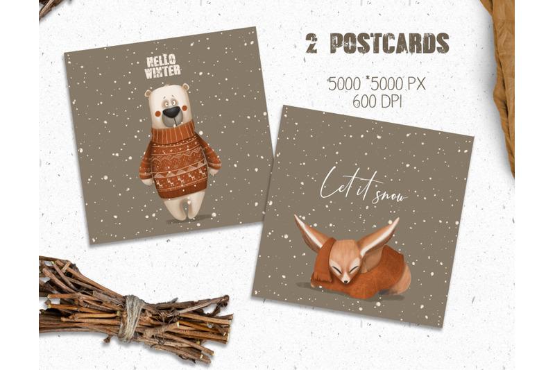 woodland-winter-christmas-set