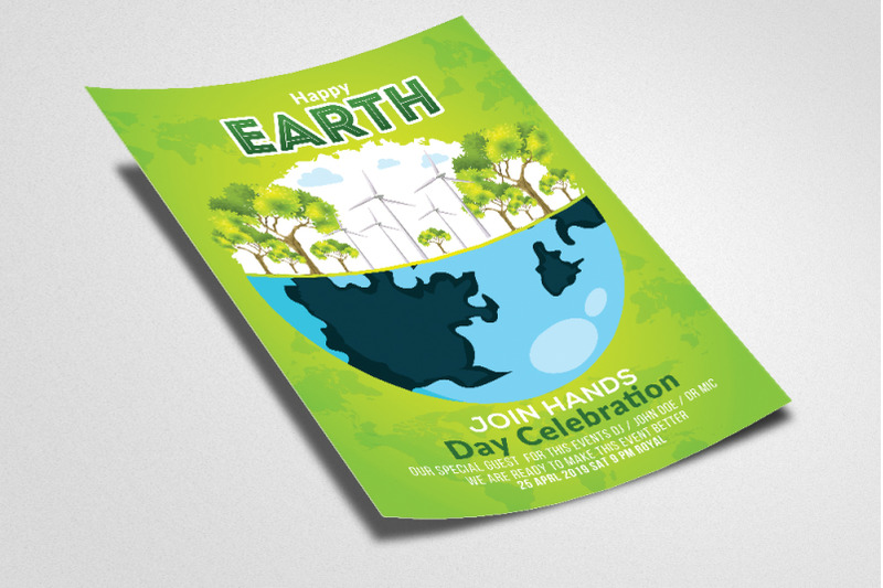 earth-day-celebration-flyer-template