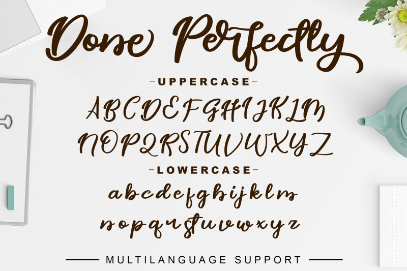done-perfectly-font
