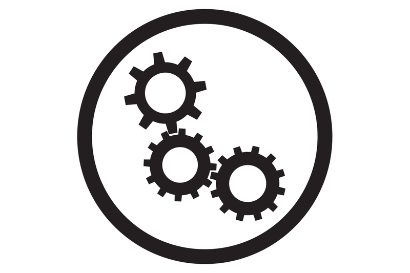 cogwheel-gear-mechanism-icon-black-white-vector