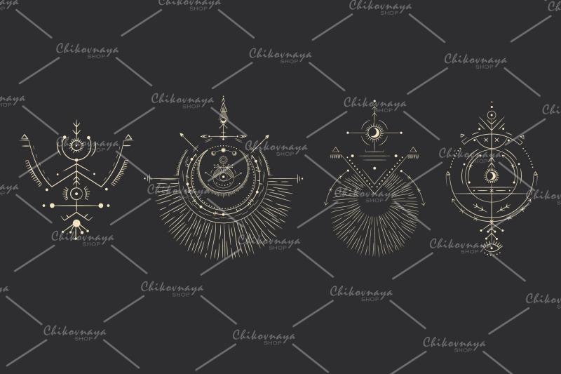 space-symbols-set