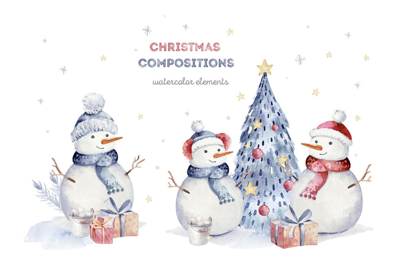 winter-snowman-collection