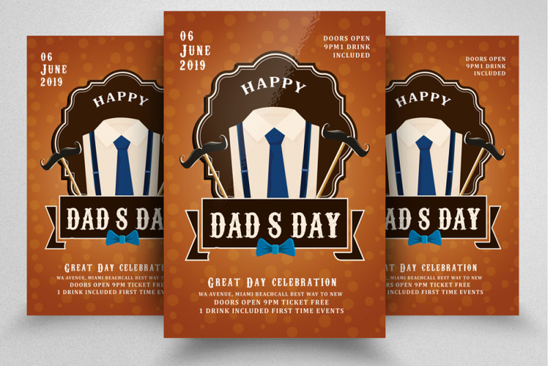 father-039-s-day-celebration-flyer-template