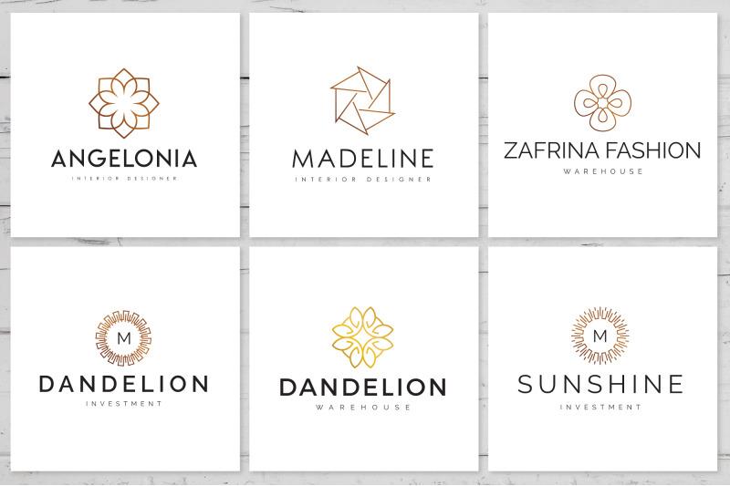 30-geometric-linear-logo-pack