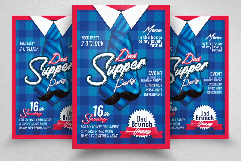 super-dad-day-flyer-template