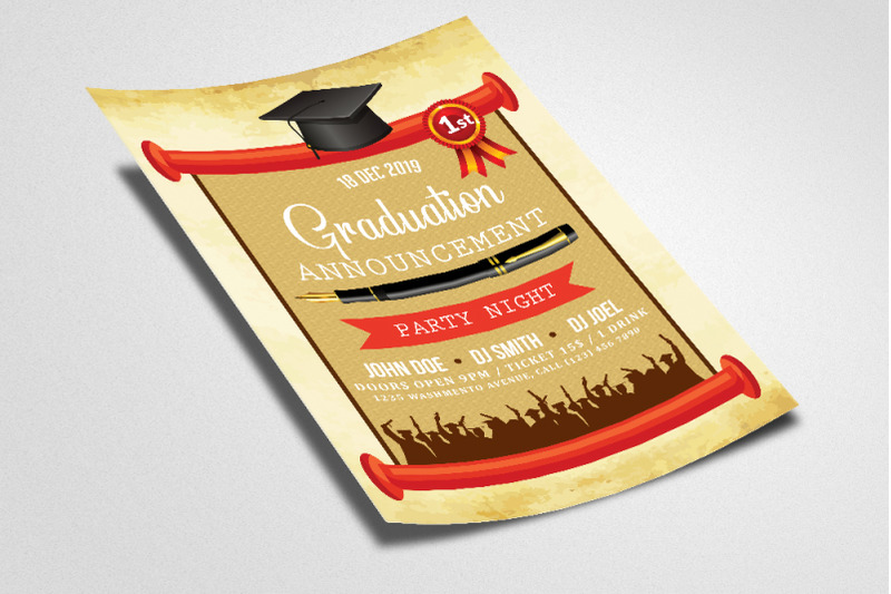 graduation-announcement-party-night-flyer