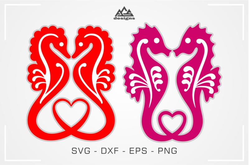 sea-horse-love-heart-svg-design