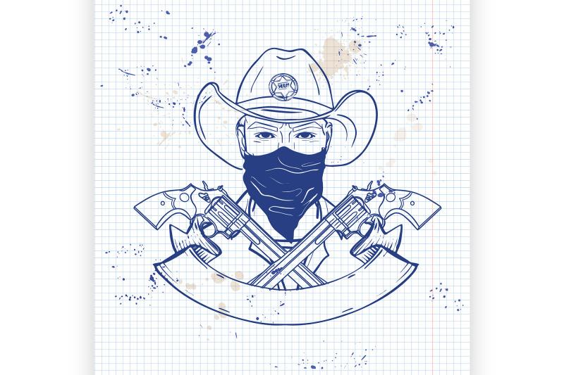 hand-drawn-sketch-cowboy