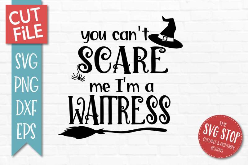 waitress-halloween-svg-cut-file