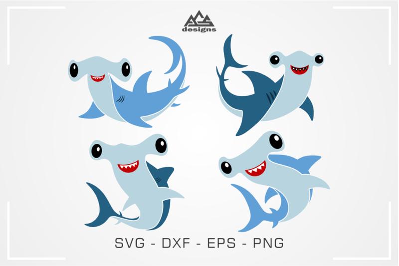 cute-hammer-head-shark-svg-design