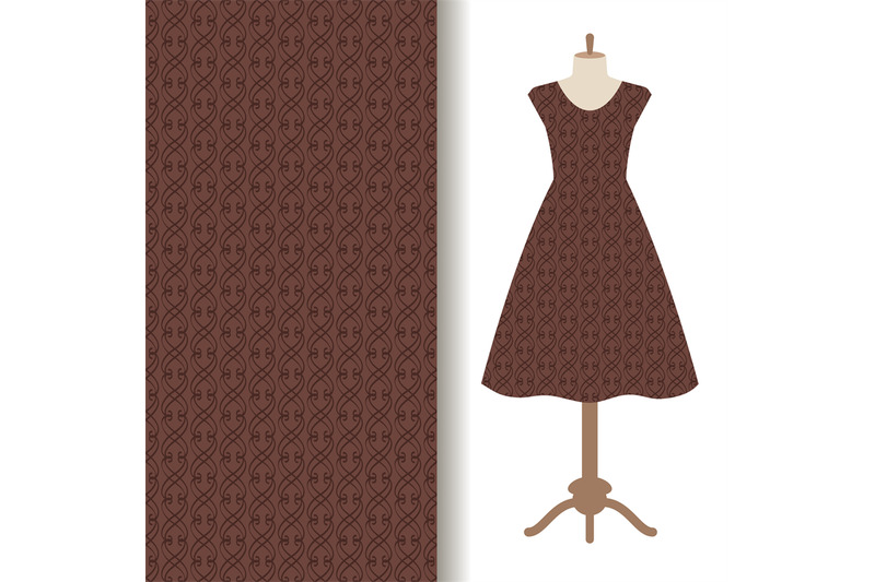 dress-fabric-with-abstract-brown-pattern
