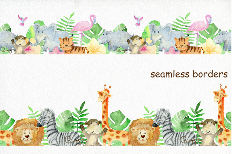 safari-watercolor-collection