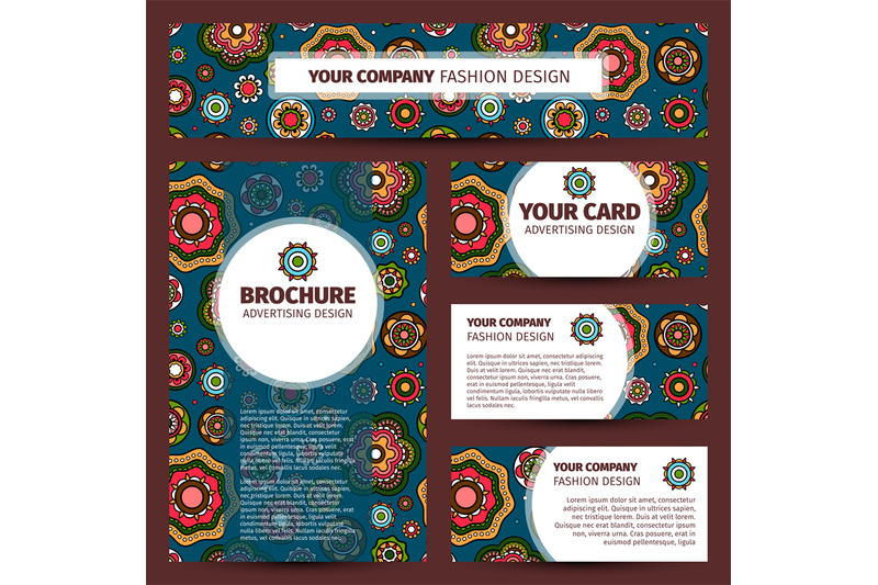 colorfull-indian-pattern-corporate-identity-design
