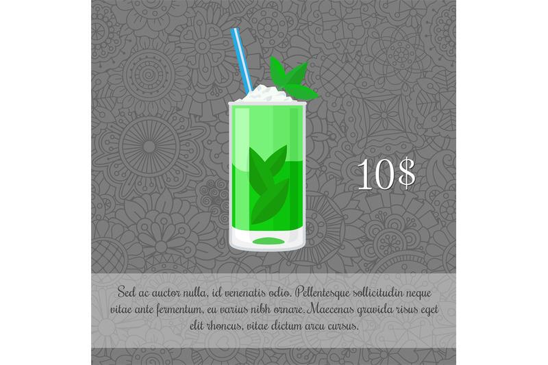 alcoholic-mojito-cocktail-card-template