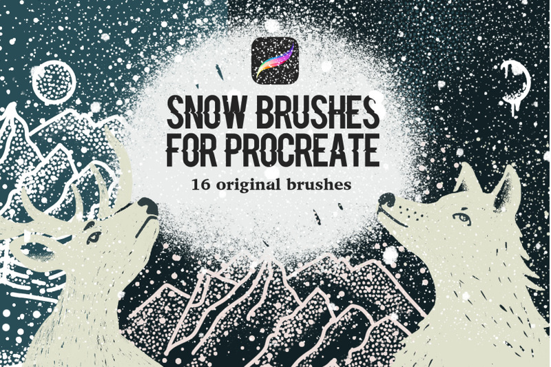 snow-brushes-for-procreate