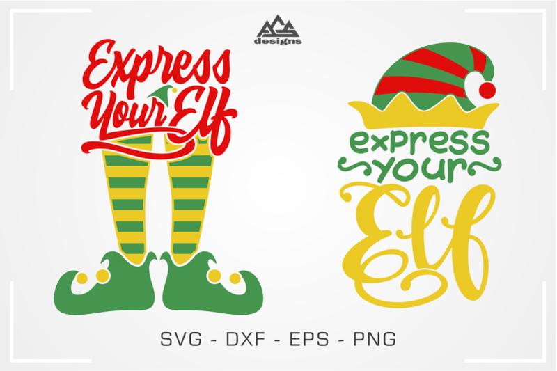 express-your-elf-christmas-elf-svg-design