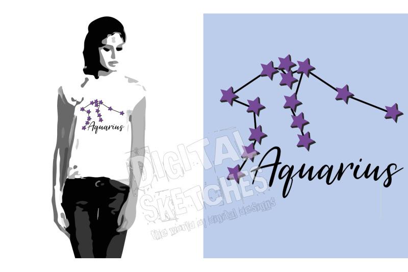 aquarius-vector-graphic-cut-file-clipart-zodiac-signs-stars